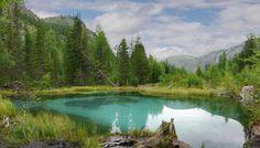 Республика Алтай. Россия. Гейзеровое озеро.