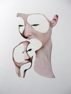 MARIE EMMERMANN, GLUELESS COLLAGES: spooky and beautiful.