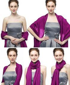 Comment nouer une étole femme, toujours urbain, casual et mode, le noeud tombant est la façon moderne et tendance de porter une étole.