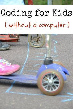 Fun coding ideas for kids - without a computer. My oldest would like this...