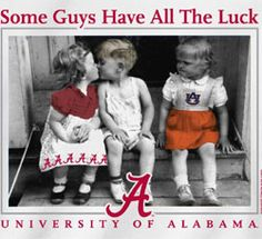 Alabama Crimson Tide Football T-Shirts - Some Guys Have All The Luck Tee