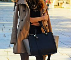 oversized bag and coat http://pearlsandrosesdiary.blogspot.gr/2015/01/time-after-time.html
