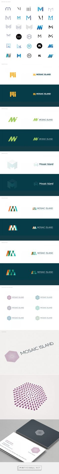 Mosaic Island - Branding and communications on Behance Ci Logo, Logo Branding, Typography Logo, Media Logo, Technology Logo, Minimal Logo, Symbol Logo, Logo Design Inspiration, Visual Design