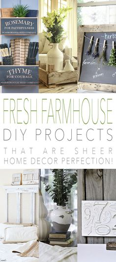 Fresh Farmhouse DIY Projects /// that are sheer Home Decor Perfection! - The Cottage Market