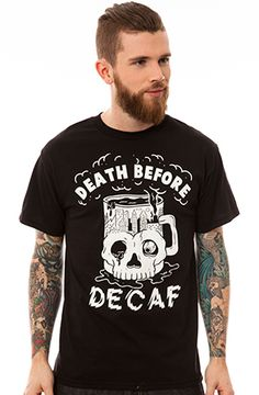 Pyknic Death Before Decaf Tee
