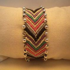 Bracelet brésilien - perles grises -automne - hiver - noël - idée cadeau