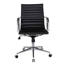 Fresno Mid Back Chair Black My Workspace, Mish Mash, Neat And Tidy, Bold Fashion, Color Splash, Stationery, Chair, Furniture, Black