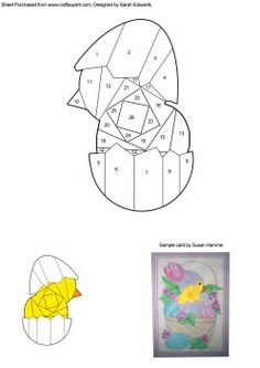 Image detail for -Hatching Chick Iris Folding Pattern - £0.70 : Crafting Cards, card ...