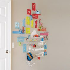 Every Which Way Wall Hook (Orange) in Shelves & Hooks | The Land of Nod