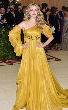 Amanda Seyfried from Met Gala 2018: Best Dressed Stars to the Hit the Red Carpet We're feeling Beauty and the Beast Belle vibes here, and we're into it.
