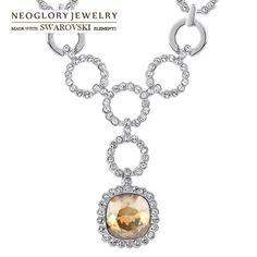 Aliexpress.com : Buy Free Shipping (No Min Order) Neoglory jewelry Leaf Beads for Earrings with Swarovski Element Rhinestone Drop Earring fo...