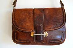 Genuine leather handbag SCHOULDER bag  Handmade by vintagdesign