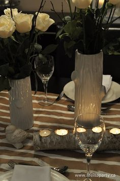 Wood Themed Tablescape