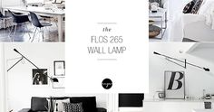 Flos 265 wall lamp decor inspiration, contemporary lighting fixtures, modern sconces, designer wall lamps, swing arm wall lighting
