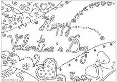 valentine s day love coloring page Шаблоны схемы pinterest