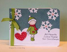 Handmade All Hearts come home for Christmas Christmas Card Craft