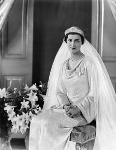 Princess Marina of Greece & Denmark on her wedding to Prince George, Duke of Kent. 1934