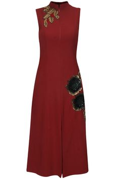 a6260cfd786 Red sequins embellished rose motifs dress available only at Pernia s Pop Up  Shop. Pernia Pop