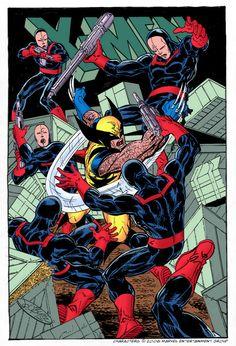 Wolverine vs the Hellfire Club (John Byrne)