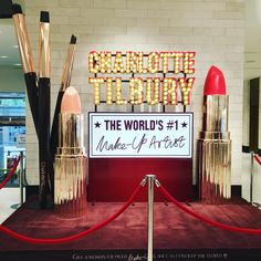 """NORDSTROM,Seattle, Washington, """"Give a woman the right makeup and she can conquer the world"""", for Charlotte Tilbury, pinned by Ton van der Veer"""