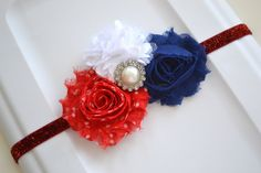 20% off Entire Order, 4Th of July Headband, Unique design for Forth of July, Toddler Headband, Newborn headband, Summer photo prop