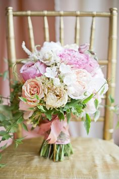 beautiful vine-y #bouquet with  lisianthus, peonies, assorted garden roses, stephanotis vine, blushing bride, astilbe, maiden hair fern, and dusty miller   Harwell Photography #wedding