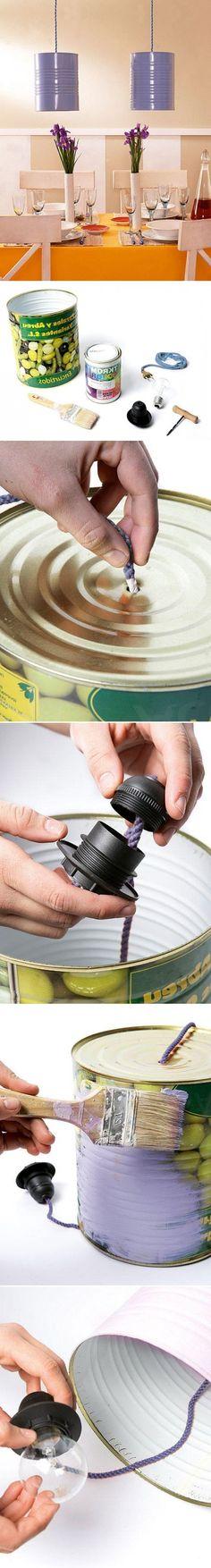 Жестянка-патрон-провод-стильный светильник