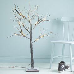 Snowy Andorra Pre Lit Twig Tree