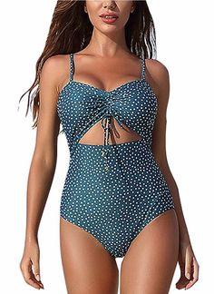 SailBee Fuzzy Print Accent Skirtini Tankini Swimsuit Two-Piece Set