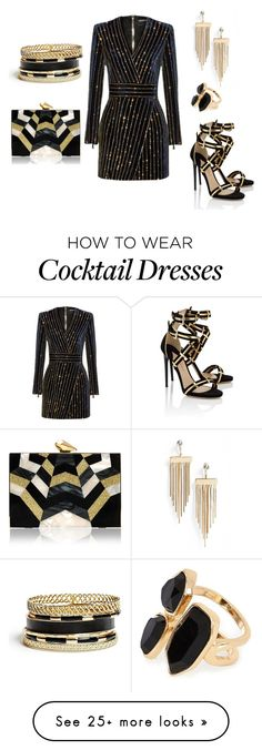 """Untitled #711"" by ana-beatriz-th on Polyvore featuring Balmain, Paul Andrew, Topshop, GUESS, River Island and KOTUR"