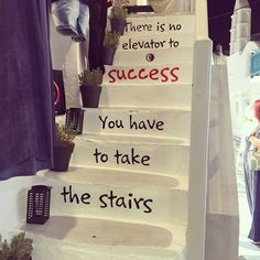 There is no elevator to success you have to take the stairs - Mykonos town
