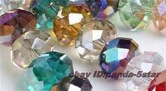 100pcs, 6x4mm,multicolore,cristal, facettes,les pierres précieuses,lâche,perles