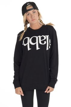 Make that statement in ilabb's signature Capsize crew. Featuring a bold-font print and an easy pull-over cut, you'll want to rock this for all your outdoor activity. Print Fonts, Crew Sweatshirts, Tomboy, Activewear, Graphic Sweatshirt, Workout, Inspired, My Style, Clothing