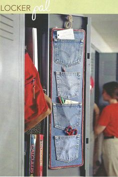 Cool idea for old jeans.