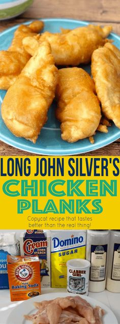 This Long John Silvers chicken batter recipe makes these chicken blanks taste ju. - This Long John Silvers chicken batter recipe makes these chicken blanks taste just like the Long Jo - Turkey Recipes, Fish Recipes, Meat Recipes, Seafood Recipes, Chicken Recipes, Cooking Recipes, Recipies, Tempura Chicken Recipe, Fondue Recipes