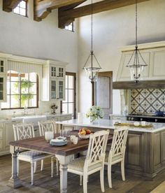In her kitchen, Kim has chosen the 7613-24 London Side Chairs from the Mariette Himes Gomez Collection. Hand carved from mahogany, these lattice-backed ...