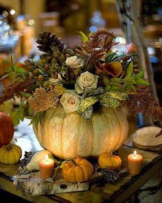 Lovely Fall Centerpiece