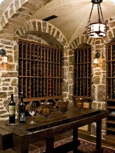 Wine cellar    All they need is some custom monogrammed wine glasses and stemware from Crystal Imagery! http://www.crystalimagery.com