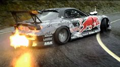 Mazda RX-7, burning rubber
