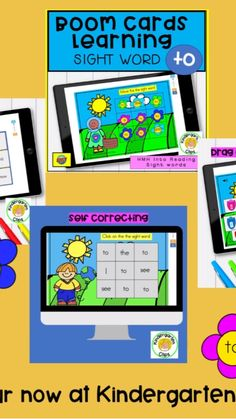 Learning Sight Words, Sight Word Games, Kindergarten Literacy, Literacy Centers, Phonics Activities, Cards, Products, Maps, Sight Words