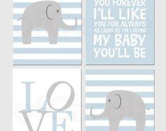 boy elephant nursery - Google Search