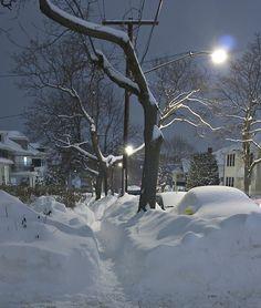 Snowy Night, Boston, Massachusetts-http://bluepueblo.tumblr.com/post/36545794119/snowy-night-boston-massachusetts-photo-via