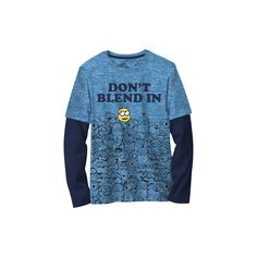 Boys' Minions Despicable Me Long Sleeve T-Shirt - Light Blue XL