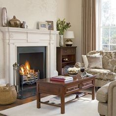 cream and brown living room ideas with fireplace #decor #interiors #homes