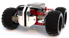 Bully the Skid - Lego Technic 9398 C Model Lego Technic Sets, Lego Mindstorms, Lego For Kids, Lego Instructions, Lego Creations, Legos, Monster Trucks, Lego Stuff, Lego Ideas