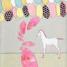 Little Pony  Original Painting on Paper  Art by jenniferdavis, $100.00