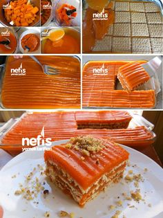 kişinin defterindeki Ha… How to Make Carrot Biscuit Cake Recipe? Here is the illustrated explanation of the Carrot Biscuit Cake Recipe in the book of people and photos of those who try it. Fruit Recipes, Sweet Recipes, Cake Recipes, Dessert Recipes, Snack Recipes, Cooking Recipes, Carrot Recipes, Biscuit Cake, Tasty