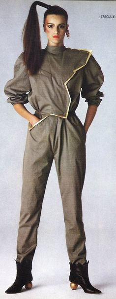Jumpsuit by Thierry Mugler 1980. Those shoes are mega.