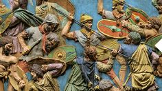 Picture of a colorized scene from Trajan's Column