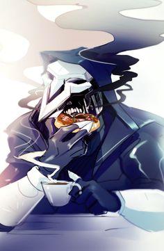 Reaper fanart and twitter doodle  - Steelsuit